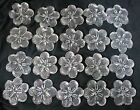 40 CLEAR VINTAGE MURANO VENETIAN ITALIAN GLASS FLAT FLOWERS FOR MIRRORS LAMPS
