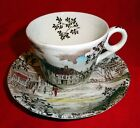 Dickens Coaching Stages W.H. Gridley Nickleby Teacup Saucer Bone China England