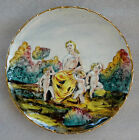 VINTAGE  ITALIAN POTTERY HAND PAINTED NUDE CHERUBS PLATE SIGNED KBNY ITALY