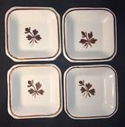 4 PC Alfred Meakin Royal Ironstone China Copper Tea Leaf Square Butter Pat Lot#2