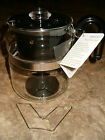 Simax 8 Cup Glass Percolator Coffee Pot Complete w Trivet Tag Stove Top Camping