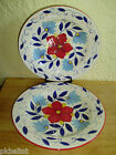 Pier 1 Portalegre Yellow Centers Red Blue Flowers Leaves White Dinner Plates 11