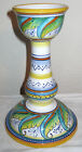 Deruta Italy Geometrico Tall Candle Stick Hand Painted Pimpinelli Majolica