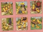 Red Rooster JUVENILE 1940s Repro *DAISIES, DOGS & DUCKS* Fabric PANEL Squares