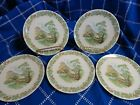 Cream of the crop! Set of 5 TEXASWARE saucers w/h Scenery 6 inch vintage antique
