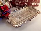 Silver Plated Relish Tray Art Deco Glass Insert Antique Hong Kong EP Tableware