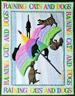 Cat  Dog  30's Style Quilt PATTERN NEW Pieced Applique Crib Wall Vintage 1986