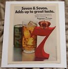 Seagrams 7 Crown Whisky Vintage 1978 Print Ad Seven and Seven