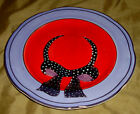 Purple CANTERBURY Potteries RED HOT LADIES Hat Dinner PLATE
