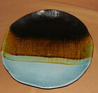 PIER 1 ONE Brown Green Blue CASSIDY Textured DINNER PLATE Stoneware