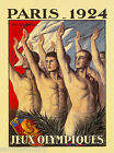 1924 Olympic Games Paris France French Vintage Travel Advertisement Art Poster