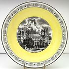 Mottahedeh Italy Ceramic Footed Fruit Bowl Vintage Grand Tour Westminister Abbey