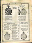 1918 ADVERT Waltham Pocket Watch Premier Maximus Opera Hunting Case Colonial