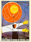 1954 FIFA World Cup Soccer Paris France Sports Travel Advertisement Poster
