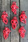 Mexican Folk Art SOLD SEPERATELY Red Devil who will always be Happy to see you!