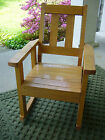 Vintage Quartersawn Oak Mission Porch Rocker Rocking Chair Old Child's Furniture