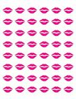 48 HOT PINK LIPS ENVELOPE SEALS LABELS STICKERS 12 ROUND