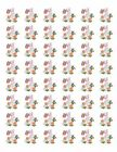 48 RABBIT FLOWERS ENVELOPE SEALS LABELS STICKERS 12 ROUND