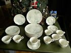 31 PCS. VINTAGE TRUE CHINA RED WING MERRILEAF 1950'S USA HAND PAINTED