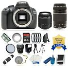 Canon EOS Rebel T5 1200D SLR Camera +4 Lens Kit 18-55 III +75-300 +3yr Warranty!