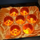 NEW DragonBall Z Stars Crystal Glass Ball 7pcs with Gift Box LARGE 76MM