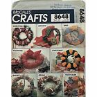 Seasonal Wreaths Pattern McCalls 8648 Crafts Vintage 1983 Easter Baby Xmas c1058