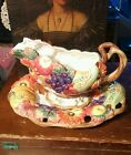Fitz and Floyd Autumn Bounty gravy boat/bowl with plate