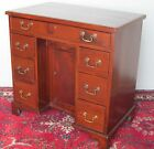 19TH CENTURY CHIPPENDALE MAHOGANY DOUBLE PEDESTAL DESK