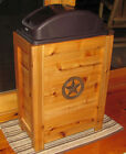 NEW WOODEN TRASH CAN WASTE BASKET BIN 30 GAL WESTERN RUSTIC CABIN CEDAR DECOR
