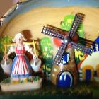 Vintage 3D Wood Dutch Scene Wall Hangings Plaque Wth Windmill-Cottage-Dutchwoman