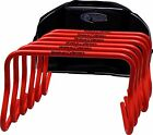 Set of Six 12 Inch Agility Hurdles Free Bag Step ABC Speed Training Aid Agility
