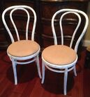 Vintage Bentwood Chairs Antique Distressed Burlap Seat Turquoise Thonet