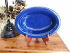 Rare Royal Cobalt Blue OVAL SERVING BOWL DISH Workshop of Gerald E. Henn Pottery