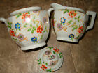 Trico Nagoya Japan SugarBowl & Creamer Pitcher Handpainted Floral Flowers
