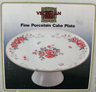 Victorian rose fine porcelain Cake Plate stand 10