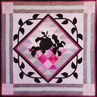 Vintage 1984 Rose Basket 30's Style Silhouette Wall Quilt PATTERN