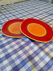 Dansk CARIBE-ARUBA ORANGE SET OF 2.. 8-3/4