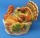 NEW FITZ & FLOYD COUNTRY GOURMET TURKEY COVERED VEGETABLE SERVER THANKSGIVING!