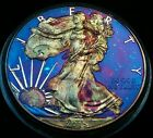 2015 Rainbow Toned Silver American Eagle 1 troy ounce fine silver uncirculated