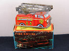 VINTAGE 1950-60'S YONE JAPAN WIND-UP MECHANICAL FIRE ENGINE WITH ORIGINAL BOX!!
