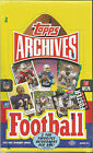 2013 TOPPS ARCHIVES FOOTBALL FACTORY SEALED HOBBY BOX AUTOS WILSON? LUCK? +++