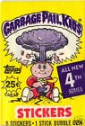 1986 Garbage Pail Kids Series 4 Complete 84 card Set with Wrapper EX