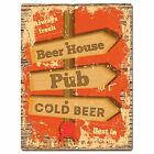 PP0854 BEER HOUSE Parking Plate Chic Sign Home Kitchen Restaurant Cafe Decor