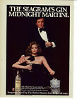Seagrams Extra Dry Gin 1978 Vintage Midnight Martini Ad