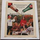 """Seagram's Whiskey and 7-Up Vintage 1984 Print Ad """"7 and 7"""""""