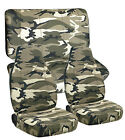 1976-2017 Jeep Wrangler Camouflage Seat Covers Canvas Front Rear Choose Color