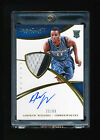 ANDREW WIGGINS 2014-15 PANINI IMMACULATE 3 COLOR TIMBERWOLVES PATCH AUTO RC # 99