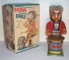 NICE 1950's BATTERY OPERATED BRAVE EAGLE INDIAN COWBOY WESTERN TOY MIB JAPAN