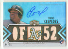 2012 TOPPS TRIPLE THREADS YOENIS CESPEDES OAKLAND A'S GAME USED BAT AUTO 44 75