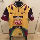 VINTAGE REEBOK WORLD Team CYCLING BIKE JERSEY SHIRT MEDIUM RARE EUC